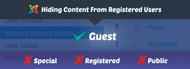 Hide Content after Login in Joomla